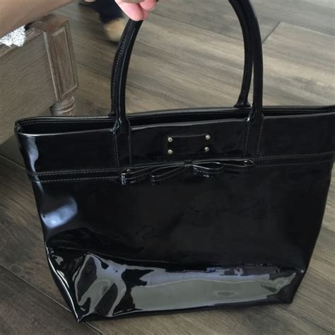 Patent Handheld Shopper Bag At Asos For Kate Moss On A Budget Style by 53 Kate Spade Handbags Kate Spade Black Patent
