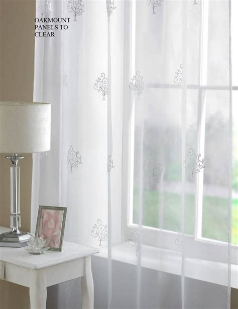 clearance drapes oakmont white voile panel clearance net curtain 2 curtains