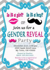 gender reveal invitation baby shower invites mis2manos