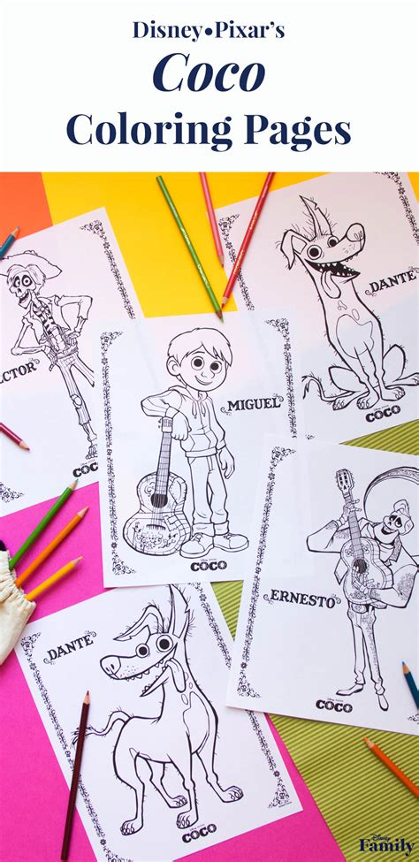 coco coloring book disney pixar coco coloring pages for boys and books coco coloring pages disney family
