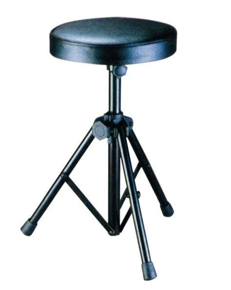 drum stool with padded seat chrome djkit