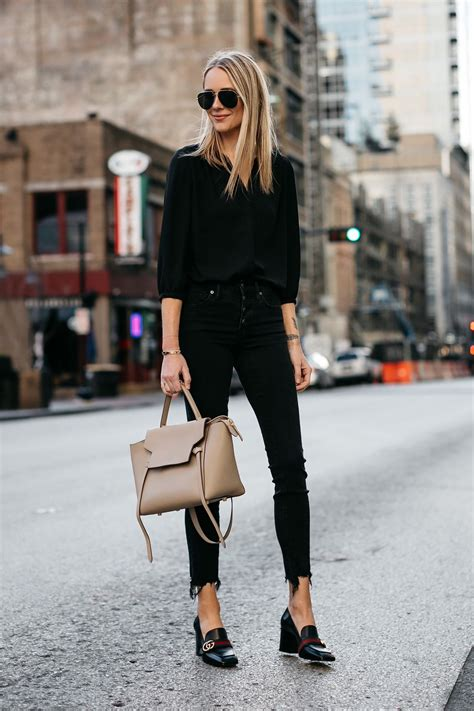 Hem Guchi Black wearing black shirt madewell black ripped hem