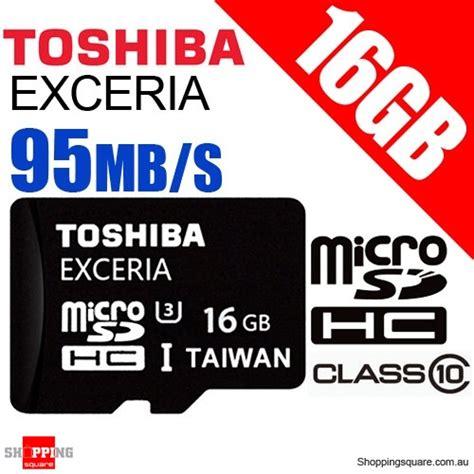 Toshiba Microsdhc Class 10 16 Gb toshiba exceria 16gb micro sd sdhc uhs i u3 95mb s class