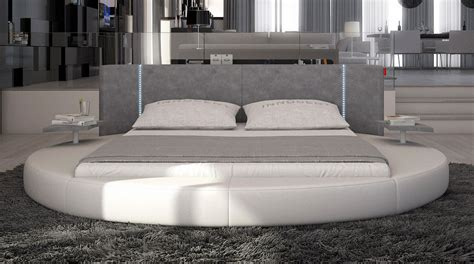 modern round bed mateo round bed with led lighting contemporary bedroom