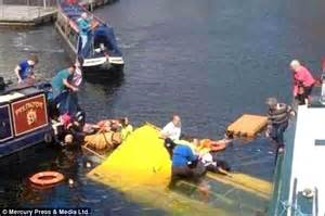 boat ride liverpool tourist terror as hibious duck bus carrying 31 people