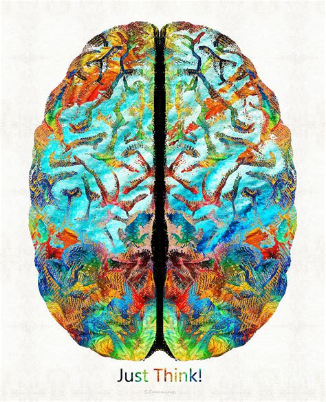 Hemispheres Home Decor colorful brain art just think by sharon cummings