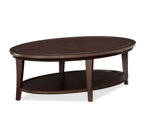 Oval Coffee Table Metropolitan Oval Coffee Table Pottery Barn