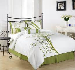 green bedroom set chezmoi collection 7 pieces green tree on white