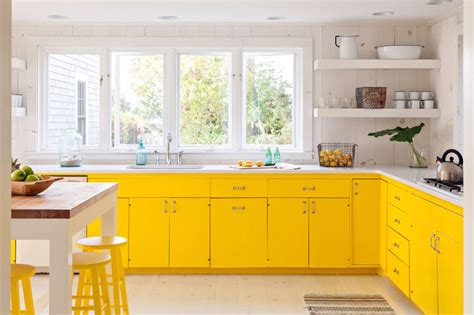 yellow kitchens with white cabinets 10 bright cheery yellow kitchens kitchn