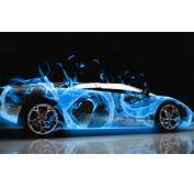 Lamborghini In Blue Flames  1698013