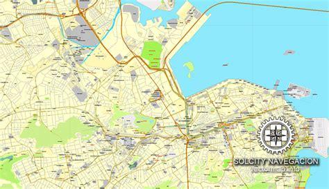 layout nfe rio de janeiro rio de janeiro brazil printable vector street city plan