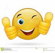 Thumb Up Emoticon Yellow Cartoon Sign Facial Expression Illustration