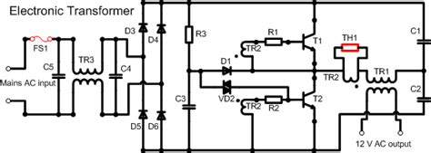 selv circuit diagram cycloflow circuit analysis of typical electronic transformer