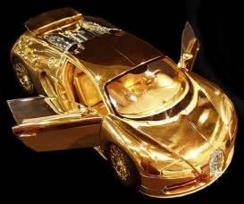 Bugatti Made Of Gold Bugatti Veyron Model Made Of Gold And Diamonds Is More