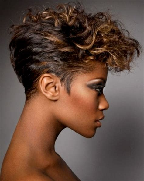 mohawk hair long in the front 24 stunning short hairstyles for black women styles weekly