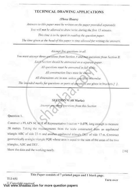 technical writing question paper question paper technical drawing applications 2012