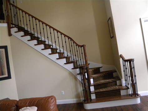 Metal Stair Banisters by Wood Stairs And Rails And Iron Balusters Iron Balusters In Evesham Twp Nj