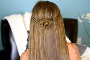 Tiebacks cute girls hairstyles page 3
