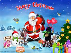 Merry christmas with santa clause