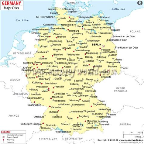 map of germany showing cities map of german cities search maps
