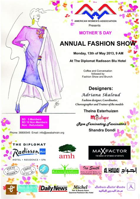 S Day Show Awa Mother S Day Fashion Show Events Whatsupbahrain Net
