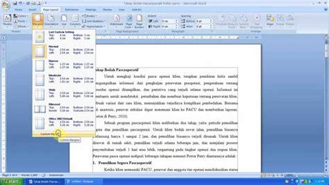 ukuran kertas spasi huruf ukuran huruf dan margin cara mengatur ukuran kertas margin dan spasi pada ms word