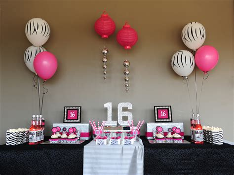 sweet 16 birthday party ideas thriftyfun newhairstylesformen2014com party decorations ideas for sweet 16 home design 2017