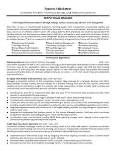 Experienced supply chain manager resume example