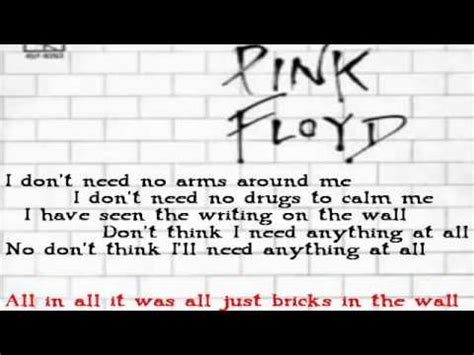 another brick in the wall testo pink floyd another brick in the wall con testo e