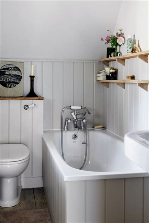 tongue and groove in bathroom grey tongue and groove panelling small space design