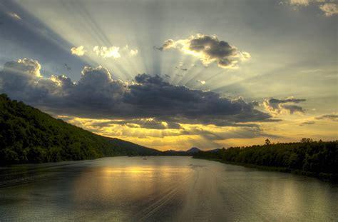 Landscape Photography Rivers River Sunset Hdr Landscape Wallpaper 1 Preview