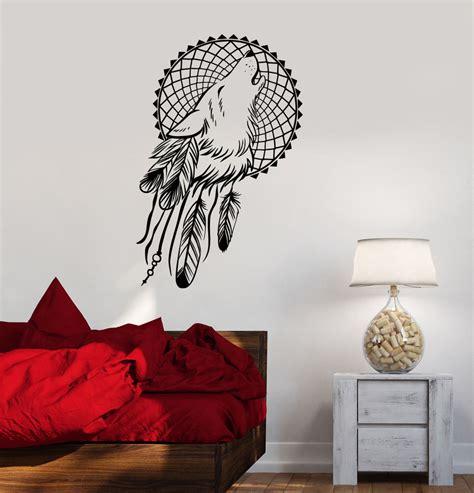 wall murals decals vinyl wall decals catcher wolf bedroom dreamcatcher ethnic stickers ig3620 ebay