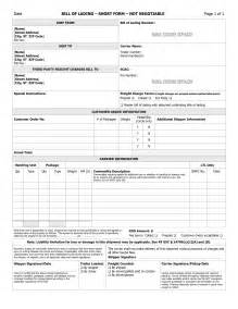 Shipping Bill Of Lading Template bill of lading template free microsoft word templates