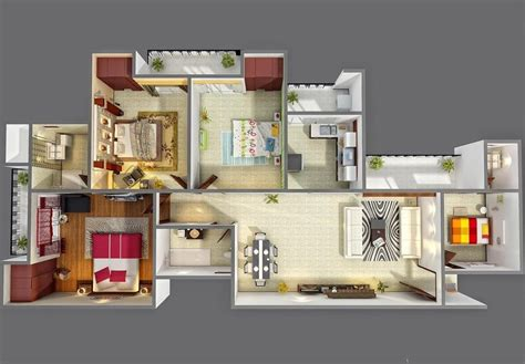 four bedroom 4 bedroom apartment house plans