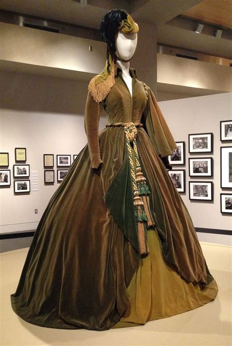 gone with the wind curtain dress scarlet o hara s dresses displayed after restoration