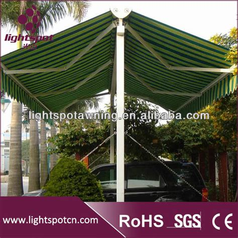 cer awning lights sale hot sale retractable car parking awning double sided