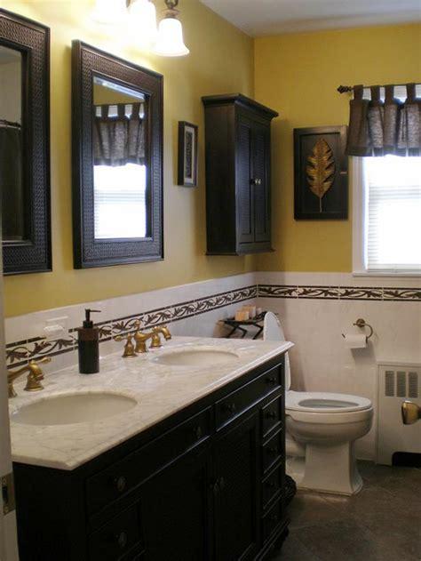 tropical themed bathroom gold and tile bathroom hgtv