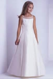 floor length first communion dresses for girls wedding