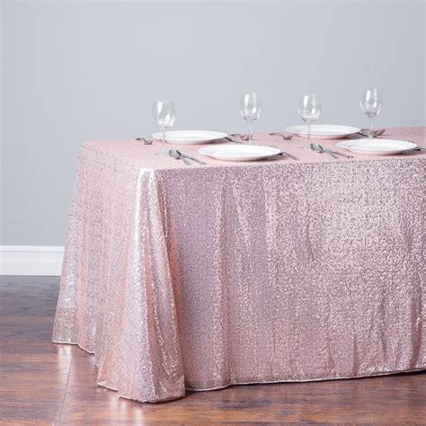 rectangular sequin tablecloth blush pink