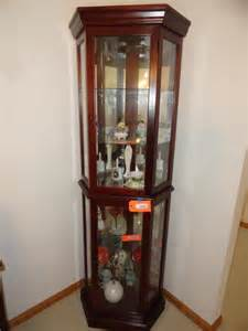 Lighted Curio Corner Cabinet Lighted Corner Curio Cabinet 76 Quot