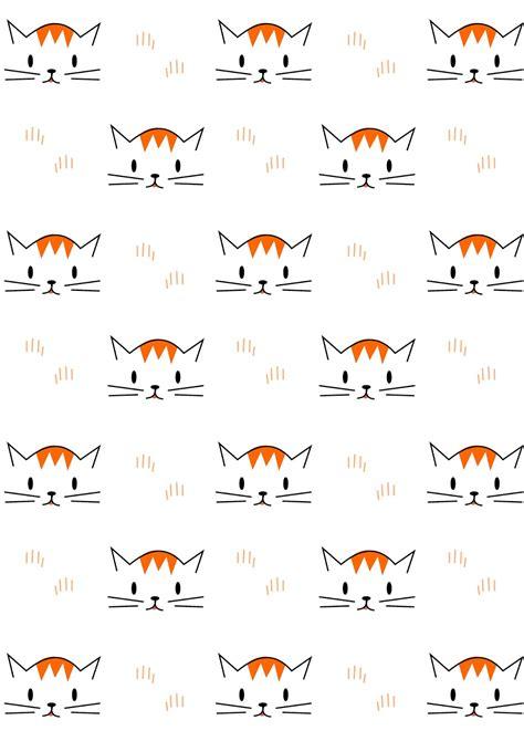 free cat background pattern free digital cat scrapbooking paper ausdruckbares