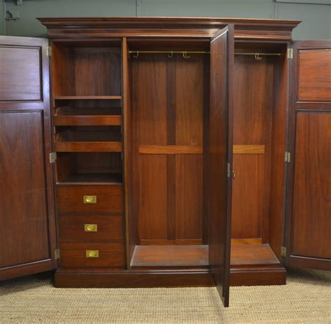 Big Wardrobes Large Superb Quality Edwardian Mahogany Antique