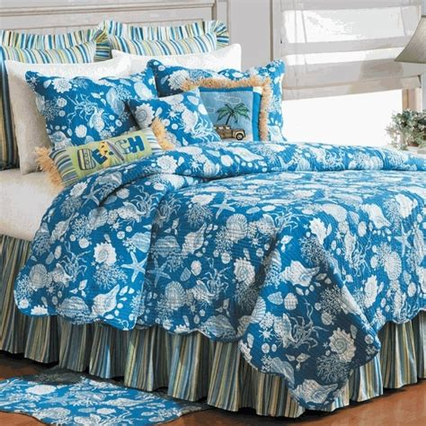 Blue Bed Quilts by Blue Shells Quilt