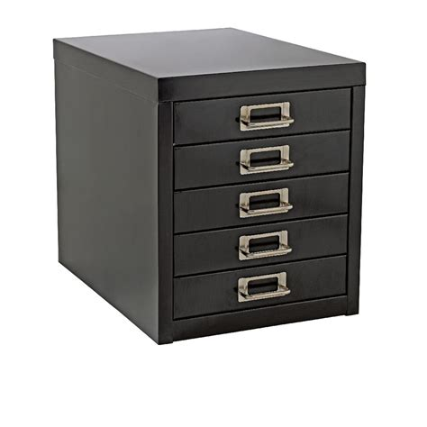 Office Desk With File Drawers by New A4 Drawer Mini Filing Unit Black 5 Storage Cabinet