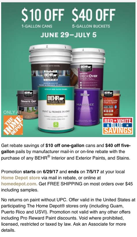 home depot paint rebate 2015 home depot memorial day paint rebate form hello ross