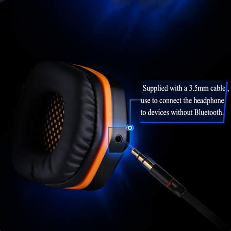 Kotion Each 2 In 1 Bluetooth Wireless Gaming Headset Bass B3505 kotion each 2 in 1 bluetooth wireless gaming headset bass b3505 black blue