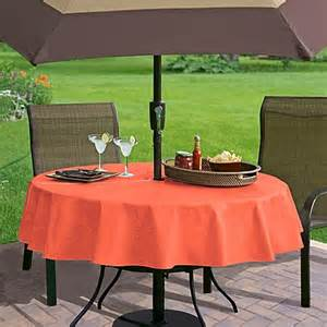 Tablecloth For Umbrella Patio Table Buy Monterey Vinyl 70 Inch Umbrella Tablecloth In Coral From Bed Bath Beyond