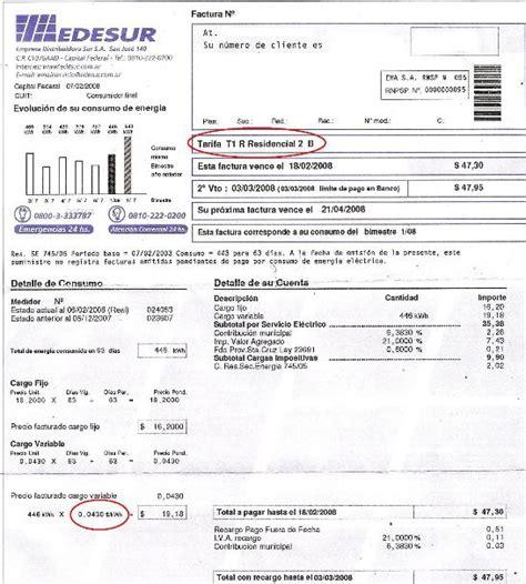 tarifa de edesur factura de edesur tarifa 3 electricidad fen 237 e energ