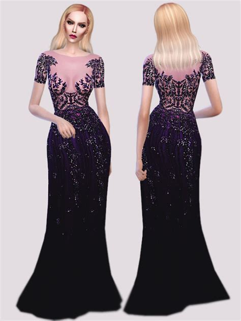 sims 4 royalty dresses z m purple gown at fashion royalty sims 187 sims 4 updates