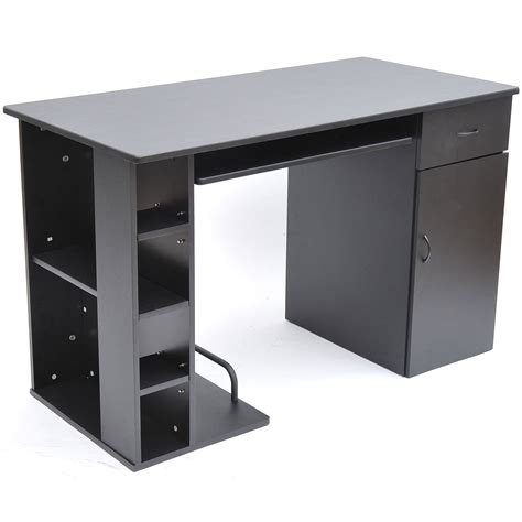 Home Office Desk Black Homcom Small Home Office Computer Desk Black